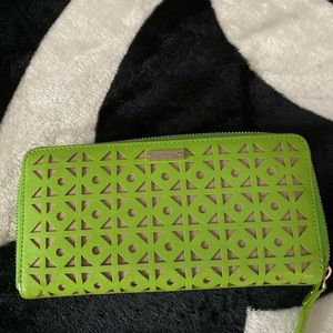 Kate spade green leather wallet